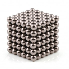 N42 216pcs Magnetic Buckyballs 5mm dia Sphere Neodymium Magnets Nickel(Ni-Cu-Ni) - color: Dark Nickel