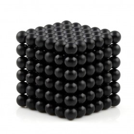 N42 216pcs Magnetic Buckyballs 5mm dia Sphere Neodymium Magnets Nickel(Ni-Cu-Ni) - color: Black