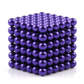 N42 216pcs Magnetic Buckyballs 5mm dia Sphere Neodymium Magnets Nickel(Ni-Cu-Ni) - color: Purple