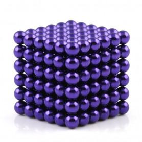 N42 216pcs Magnetic Buckyballs 5mm dia Sphere Neodymium Magnets Nickel(Ni-Cu-Ni) - color: Purple