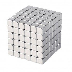 N42 216pcs Magnetic Cube 5mm length x 5mm width x 5mm thick  Block Neodymium Magnets Nickel(Ni-Cu-Ni)