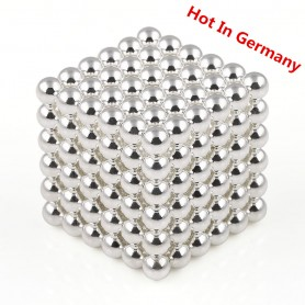 N42 216pcs Magnetic Buckyballs 5mm dia Sphere Neodymium Magnets Nickel(Ni-Cu-Ni) - color: Silver